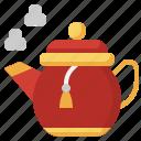 teapot, coffee, kitchen, tea, food, and, restaurant icon