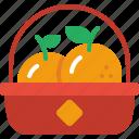 oranges, mandarin, tangerine, orange, basket