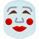 carnival, chinese, mask, party, poppers, show, smile icon