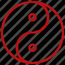chinese, new, yan, year, yin icon