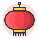 chinese, lamp, lantern, new year icon