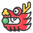 chinese, dragon, head, new, year icon