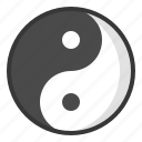 chinese, dark, light, new, year, yin yang icon