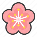 chinese, flower, new, plum blossom, year icon