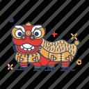 asia, barongsai, celebration, chinese, dance, imlek, lion icon