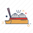 asia, chinese, dimsum, dumpling, food, meal, restaurant icon