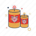 2019\, celebration, chinese, culture, festival, fireworks icon