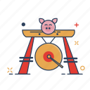 asian, bell, chinese, gong, metal, oriental, percussion icon