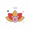 beauty, chinese, floral, flower, lotus, plant icon