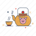 china, chinese, culture, cup, hot, tea, teapot icon