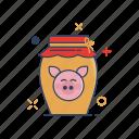 chinese, ewer, food, glass, jar, jug, pot icon