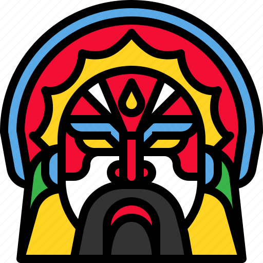 Chinese, costume, engkor, face icon - Download on Iconfinder