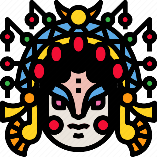 chineseopera, culture, face, opera icon