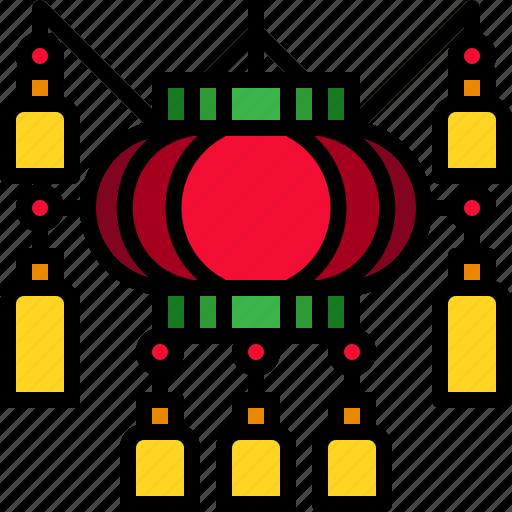 decoration, lamp, lantern, light icon
