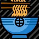chopsticks, cuisine, meal, noodle icon