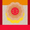cake, mooncake, oriental, sweet