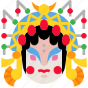 chineseopera, culture, face, opera icon