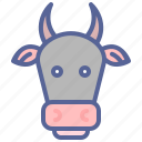 animal, chinese, ox, zodiac icon