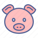 animal, chinese, pig, zodiac icon