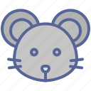 chinese, mouse, rat, zodiac icon
