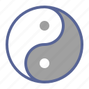 chinese, yang, yin, zodiac icon