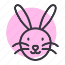 animal, chinese, rabbit, zodiac icon