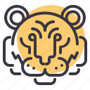 animal, chinese, tiger, zodiac icon