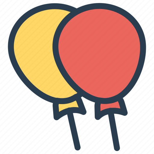 balloon, celebration, decoration, party icon