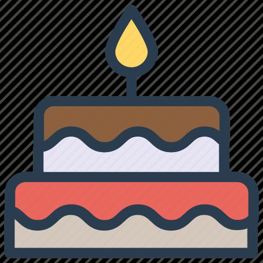 birthday, cake, christmas, party icon