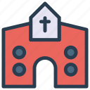 building, catholic, christianity, church icon