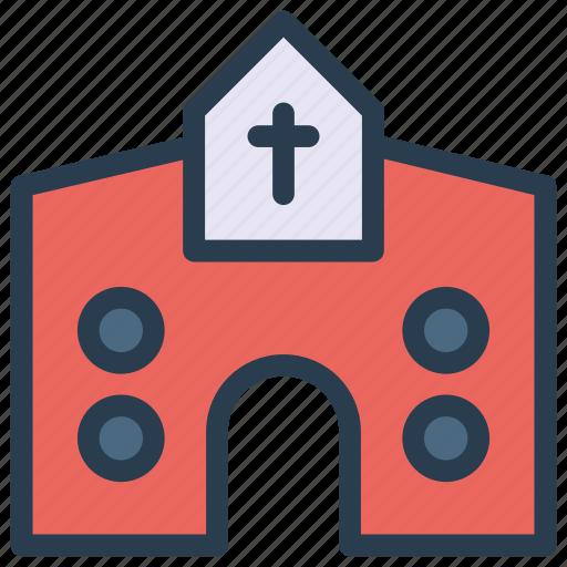 building, catholic, christianity, church icon