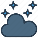 cloud, night, star, weather icon