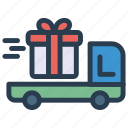 box, delivery, gift, shipping icon