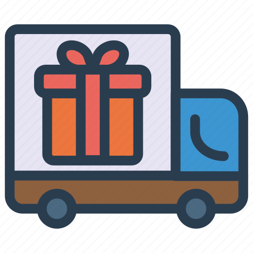 cargo, delivery, gift, truck icon