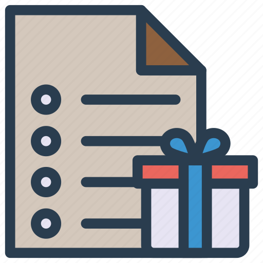 document, file, gift, page icon