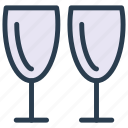 champagne, drink, glass, juice icon