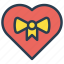 favorite, gift, heart, present icon