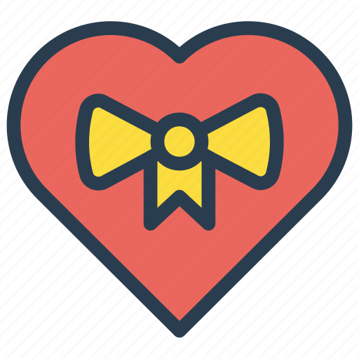 favorite, gift, heart, present icon