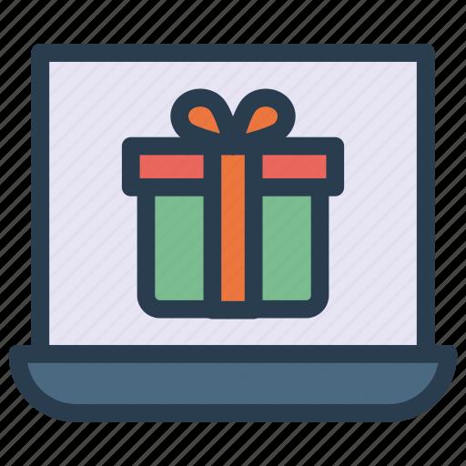 devices, gadget, laptop, present icon
