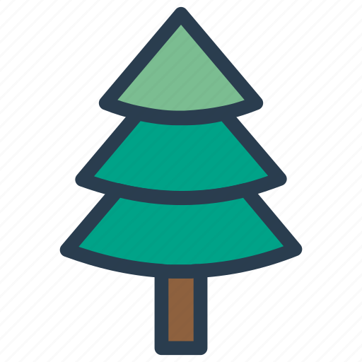 christmas, garden, nature, tree icon