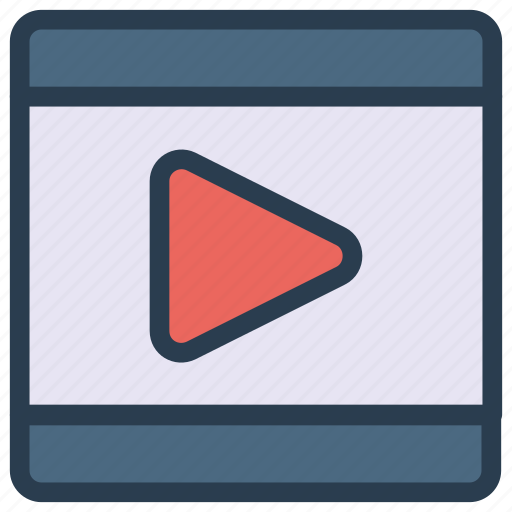 movie, play, streaming, video icon