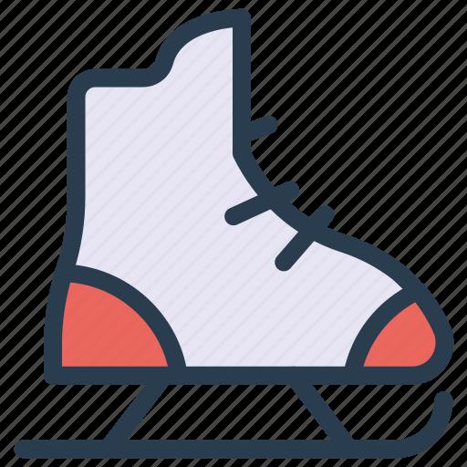 christmas, shoes, skating, sport icon