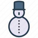 cartoon, christmas, man, snow icon