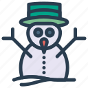 christmas, ice, man, snow icon