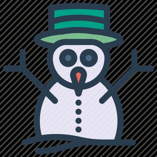 christmas, ice, man, snow icon