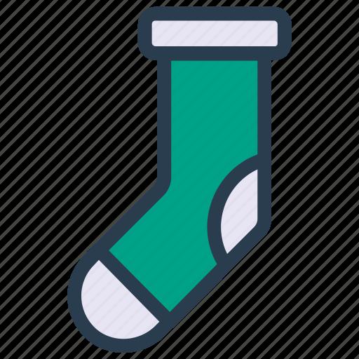 foot, socks, wear, winter icon