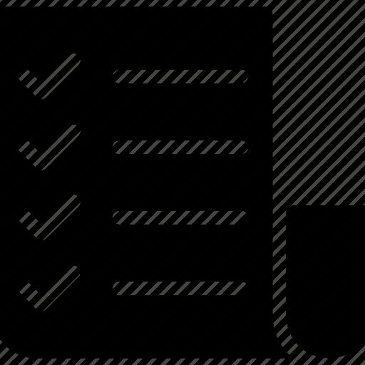checklist, document, page, tasklist icon