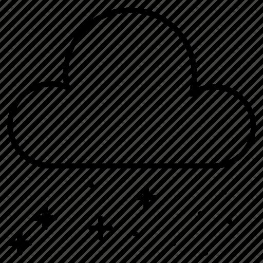 cloud, night, star, weather icon