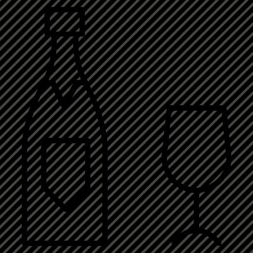 Beer, bottle, glass, wine icon - Download on Iconfinder