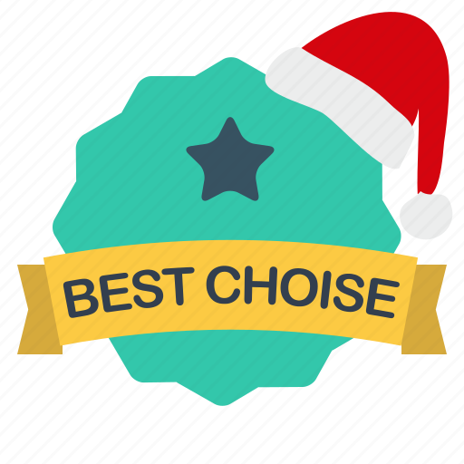best, choise, christmas, label, sale, star icon